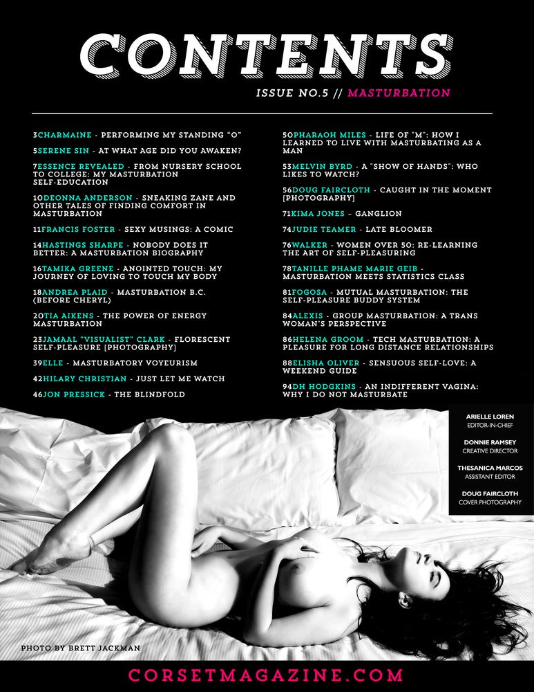 Image of Corset Magazine, Issue 5, Masturbation (Digital)
