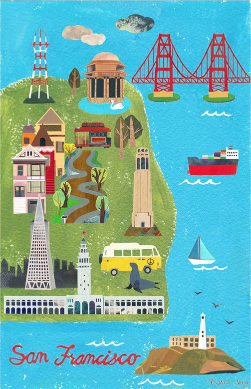 San Francisco City Map / ✄ on