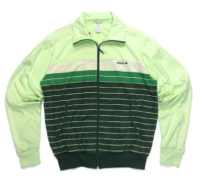 Image of Adidas Striped Tonal Green Track Jacket