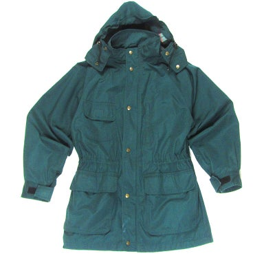 Image of Eddie Bauer Flannel Lined Jacket w/ Removable Hood