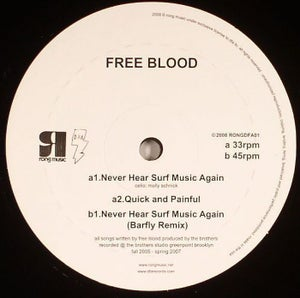 "Image of Free Blood ""Never Hear Surf Music Again"""