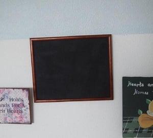 Rectangular Chalkboard with Dark Brown Narrow Frame