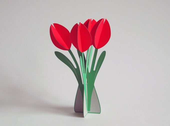 Image of 2 xcut&make Tulips Cards