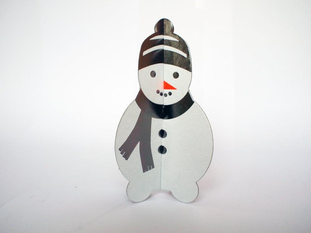 Image of 2 x PopOut Snowman
