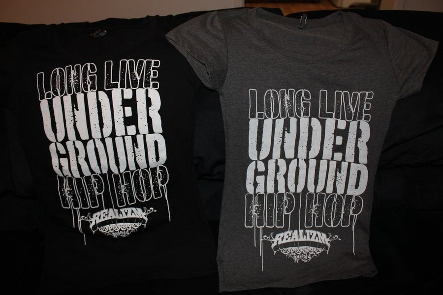 Image of Long Live Underground Hip Hop (Womens Tee)