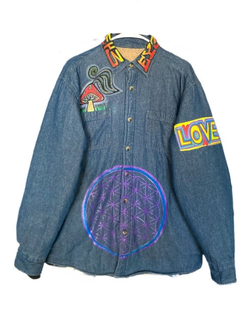 """Image of """"Visionary"""" 1 of 1 Denim Button up"""
