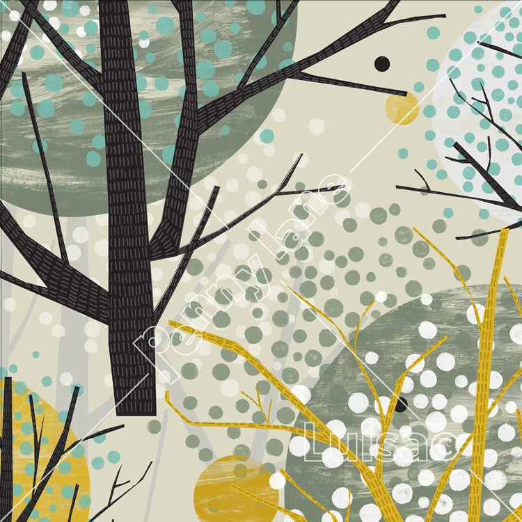 Image of Paper Bird Forest - Trees