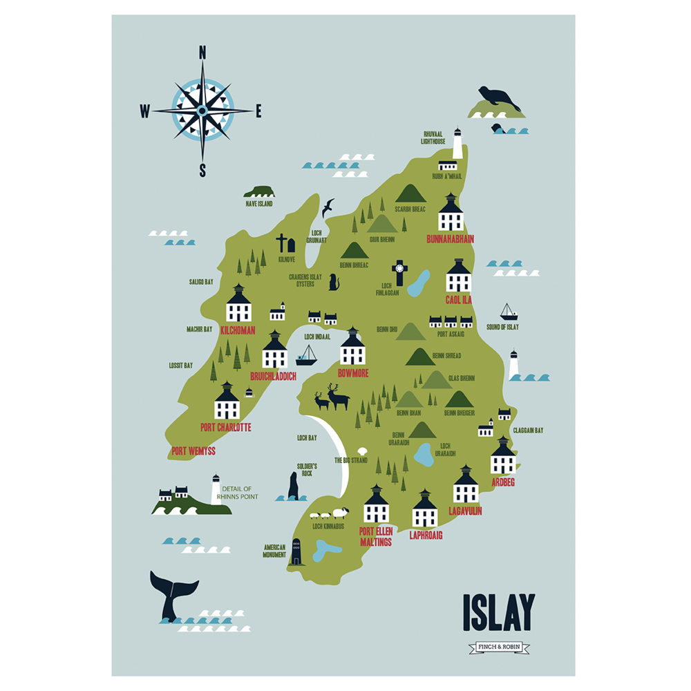 Image of Printed Map of The Isle of Islay