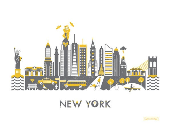 Image of New York Skyline Print