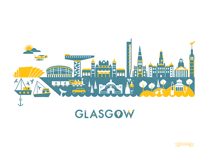 Image of Glasgow Skyline print