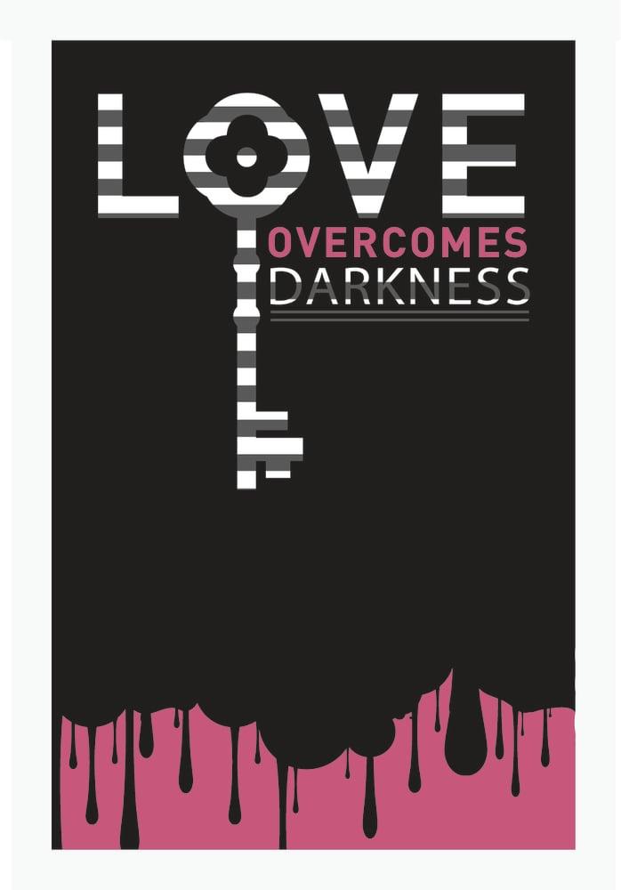 Image of Love overcomes art print