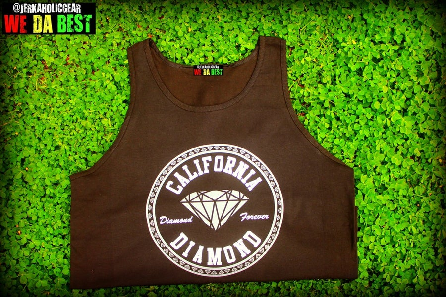 Image of CALIFORNIA DIAMONDS BLACK TANK  LIMITED #BESTOFTHEDAY