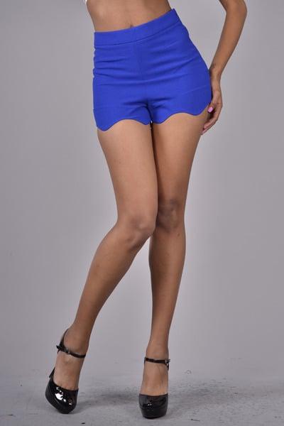 Image of Royal Blue Wave hemmed Shorts