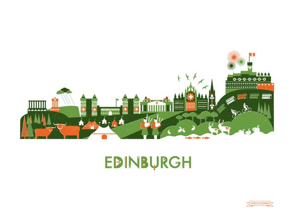 Image of Edinburgh Skyline Print