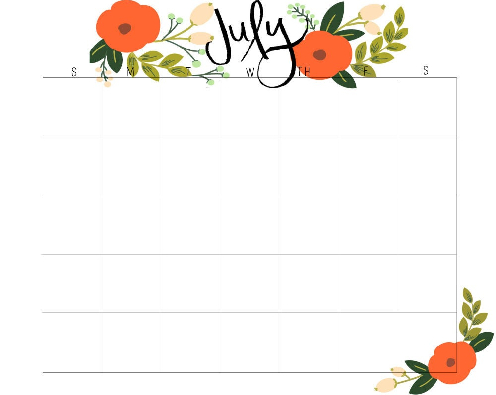 Monthly Calendar Using Javascript : Suzie stationary — monthly calendars