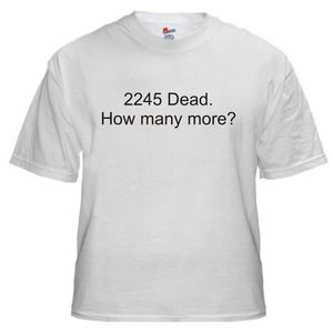Image of 2245 Dead.  How Many More?