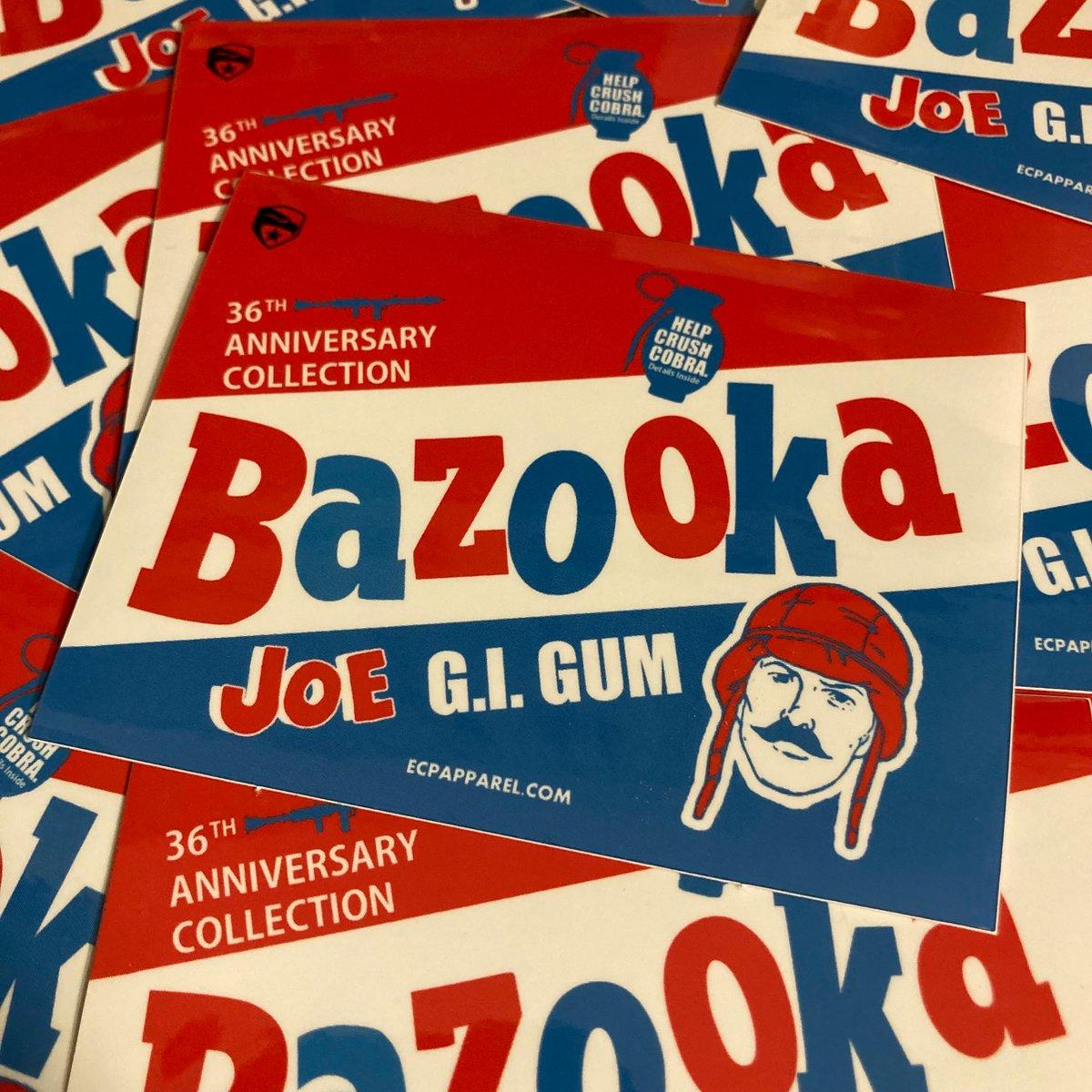 """Bazooka G.I. Gum"" Die-cut Sticker"