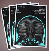 Image of  Sigur Ros Brixton Academy 2013 Poster Set of (3)