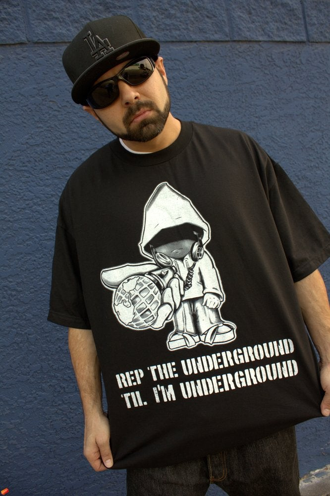 Image of Realizm Underground Character Tee (Black & Royal Blue) (Men & Women's)