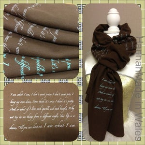 "Image of Handprinted ""I AM WHAT I AM' scarf"