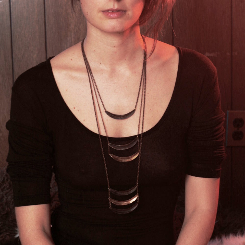 Image of Double Arc Necklace