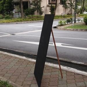 Large Frameless Wooden Standing Chalkboard