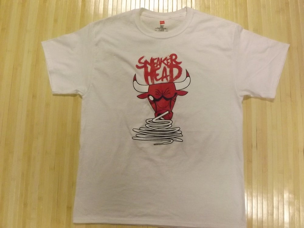 """Image of """"SneakerHead"""" Crewneck T-Shirt (Presented in White)"""