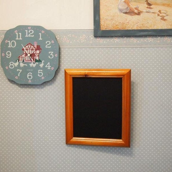 Chalkboard with Rustic Brown Frame