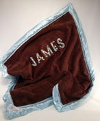 Image of Dark Brown Personalized B. Covered Blanket