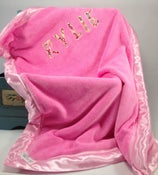 Image of Pink Personalized B. Covered Blanket