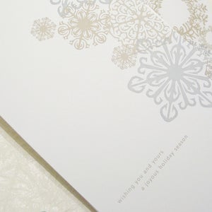 Image of Snowflake & Wreaths Holiday Cards
