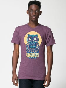 Image of Owl Shirt - Heather Plum