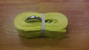 Image of yellow winch strap