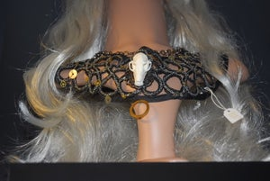 Image of Sophie Adamson art and accessories-replica bird skull neck piece
