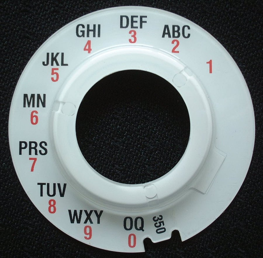 Image of Replacement Dial Plates No 10 or No.12