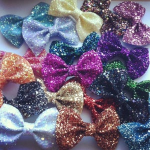 Image of Small Glitter Hair Bows