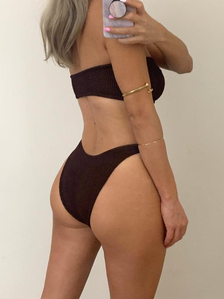 Image of Chocolate Brown Ring Bandeau Bikini