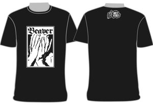 """Image of """"Beaver"""" On The Record T-Shirt $10 + Postage"""