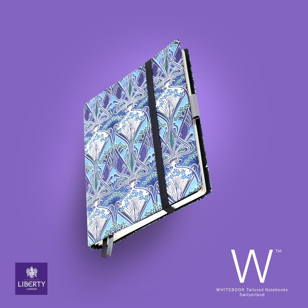 Image of Whitebook Liberty London H034, Blue Lanthe print, 240p. (fits iPad / Air / Mini / Samsung)