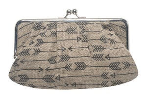 Image of Sophie Clutch: Arrow Linen