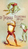 Image of Dr. Thomas' Eclectric Oil - Tumbling Frogs