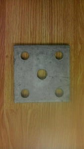 Image of 5 hole tie plate