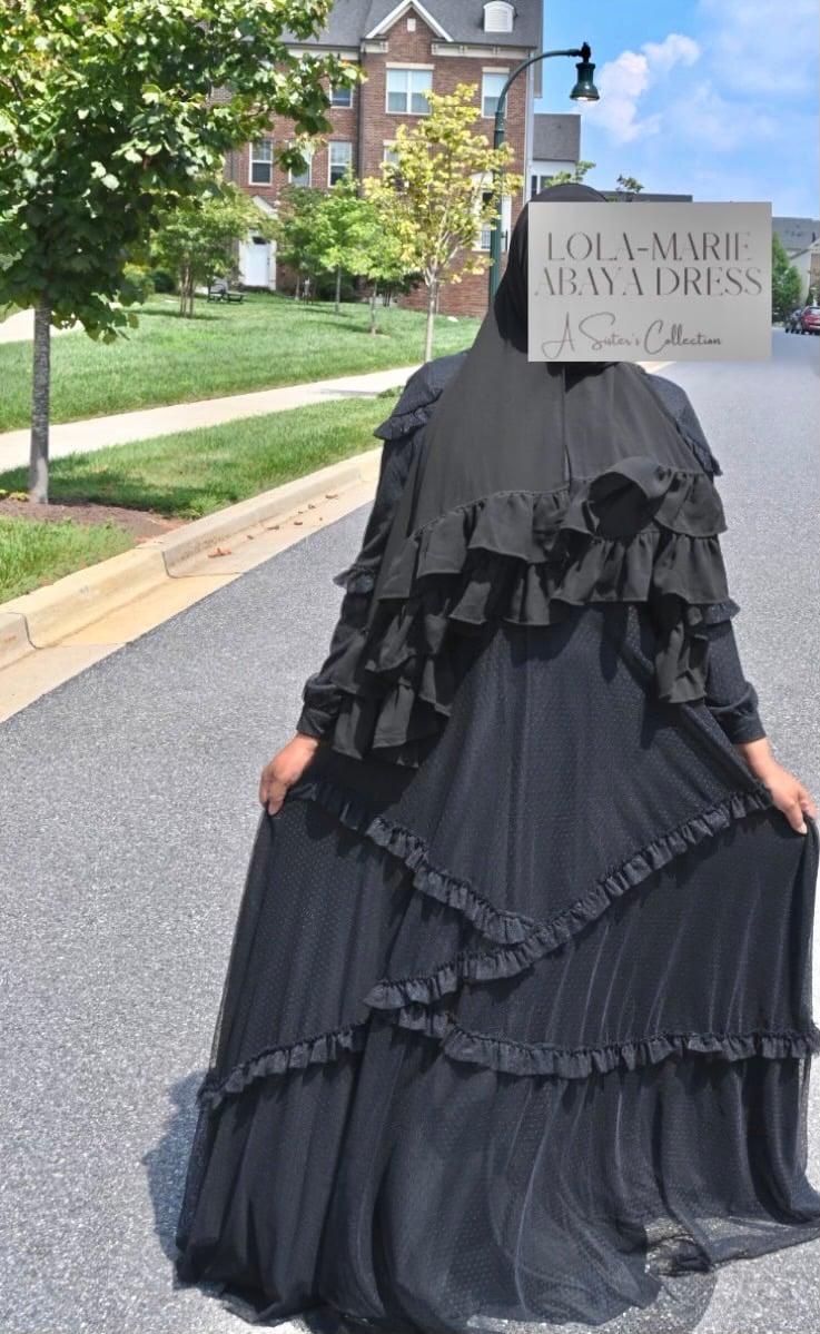 Image of Lola Marie Abaya Dress Black