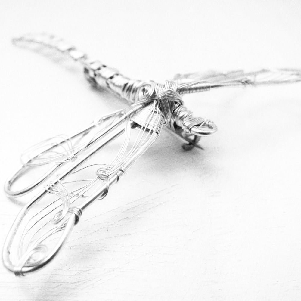 Image of Silver Dragonfly Brooch