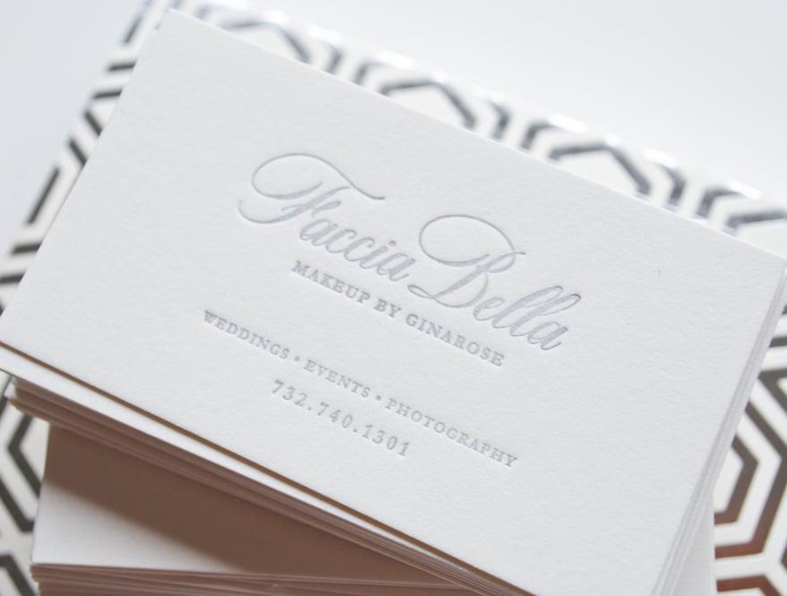 Custom Letterpress Business Cards Ink Ivory