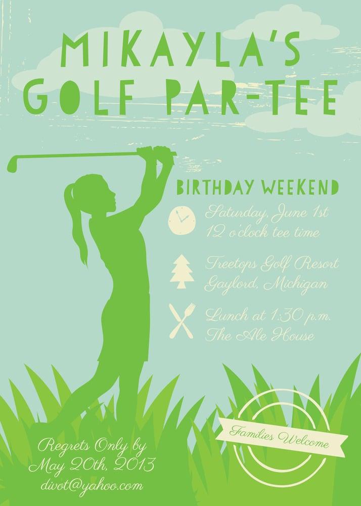 Golfing Invitation (Boy or Girl)