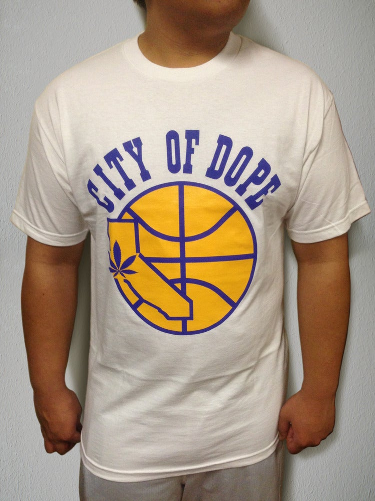 Image of City of Dope Warriors Retro Tee in White