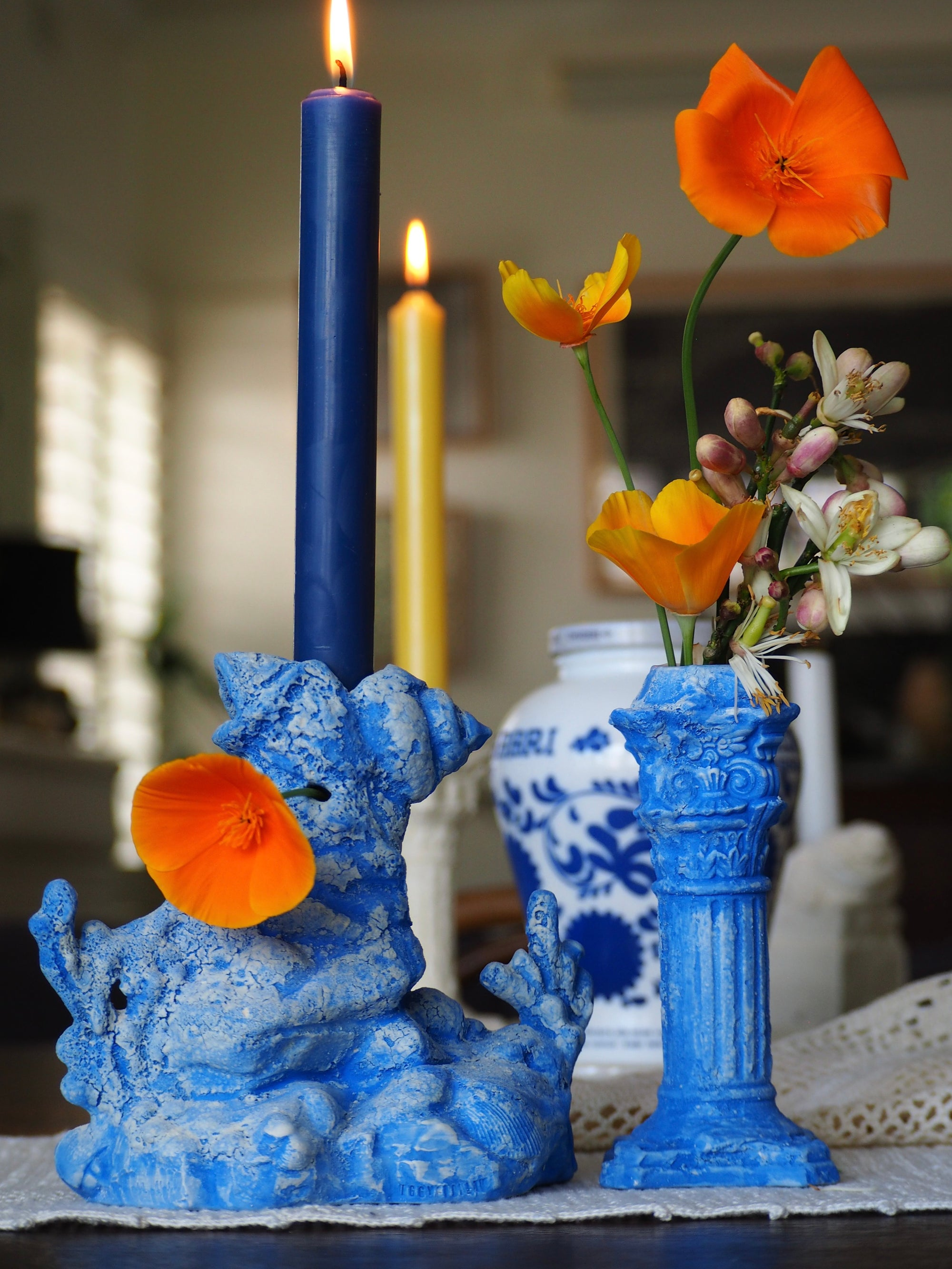 Image of Under the Sea Candle Centrepiece- Lapis Blue