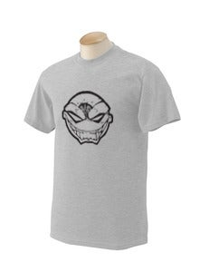 Image of Grey Maniacal Smile Iconic Head T-Shirt