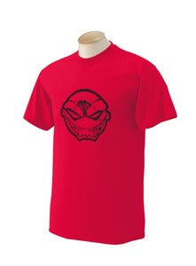 Image of Red Maniacal Smile Iconic Head T-Shirt